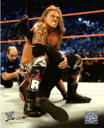 Edge vs. Undertaker WWE WrestleMania 24 8x10
