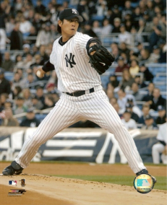 Chien-Ming Wang Yankees Pitching 8x10 Color Photo