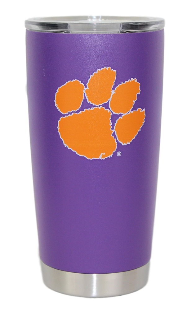Clemson Tigers NCAA Stainless Steel Insulated 20oz Tumbler - Purple