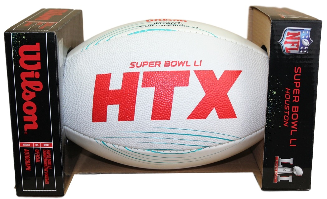 NFL Wilson Official Super Bowl 51 LI Commemorative All-White Football