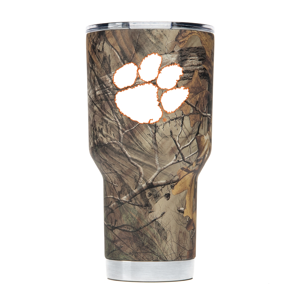 Clemson Tigers NCAA Stainless Steel Insulated 30oz Tumbler - Camo