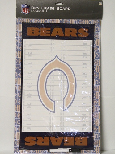 Chicago Bears NFL Dry Erase Board Wall Magnet